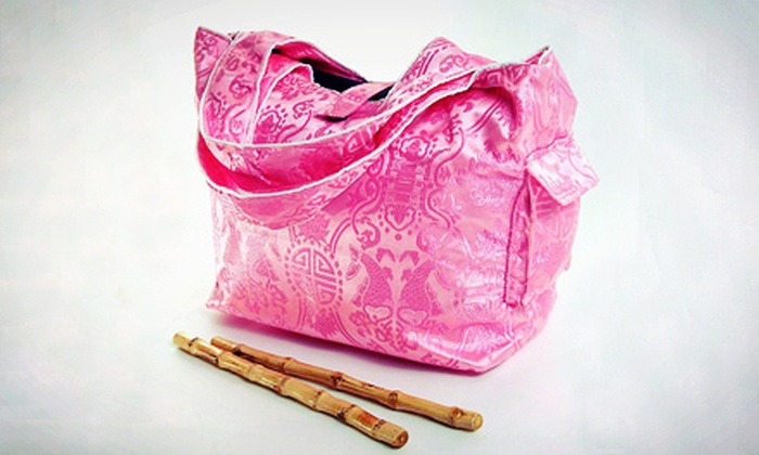 l.j. bamboo: Tote Bags and Diaper Bags from l.j. bamboo (Half Off). Two Options Available.