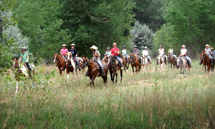 Chatfield Stables - Littleton: 60- or 90-Minute Trail Ride for Two or Four at Chatfield Stables (Up to 54% Off)