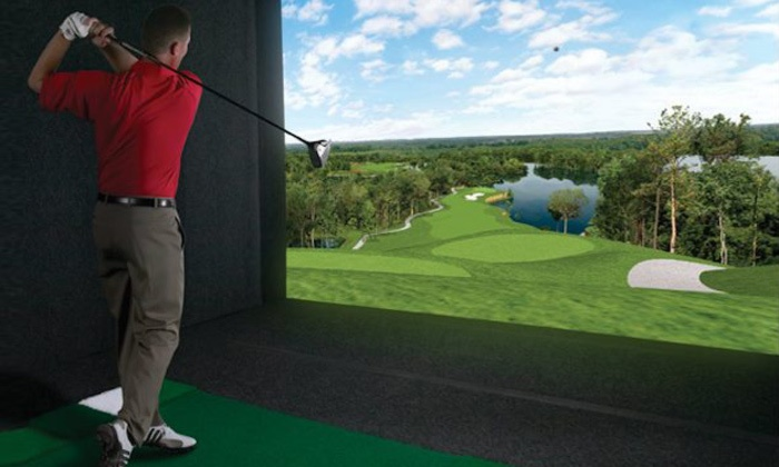 Golf Anytime - Marriott City Center: 18 Simulated Holes of Golf for Two at Golf Anytime (Up to 59% Off)