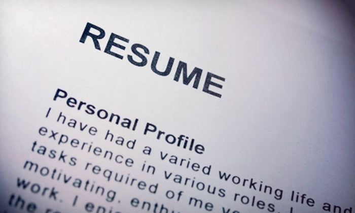 professional resumé package upgrade resume groupon