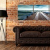 """47""""x16"""" Triptych Wood-Panel-Mounted Canvas Prints"""