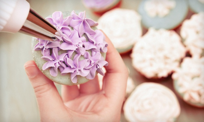 I Wish Lessons - Multiple Locations: Cupcake-Decorating Class and Four Take-Home Cupcakes for One, Two, or Four from I Wish Lessons (Up to 63% Off)