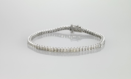 14-Karat White Gold Tennis Line Bracelets with Gems or Diamonds. Multiple Styles from $2,119.99–$2,739.99. Free returns.