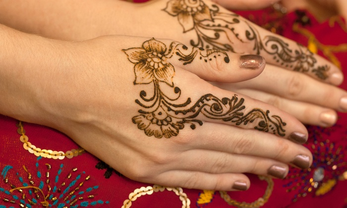 The Henna Shoppe - Henna Shoppe: Eyebrow Threading with Optional Lip Threading, or One Category A or B Henna Design at The Henna Shoppe (Up to 53% Off)