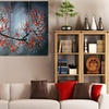 Large Multi-Panel Hand-Painted Textured Paintings on Canvas