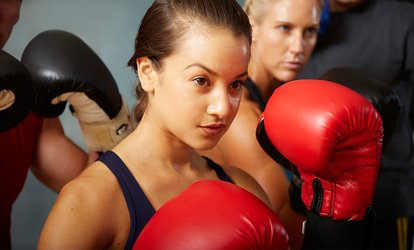 image for <strong>Boxing</strong>, <strong>Kickboxing</strong>, or Cardio Hip-Hop <strong>Boxing</strong> Classes at Punch Fitness (Up to 57% Off)