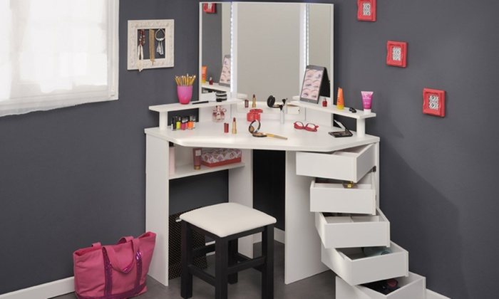 coiffeuse volage groupon. Black Bedroom Furniture Sets. Home Design Ideas