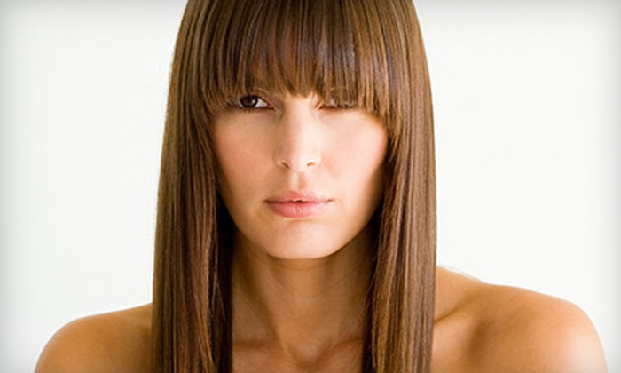 LIsa at Gossip Salon - Carol Stream: Haircut and Deep-Conditioning Treatment with Optional Partial Highlights from Lisa at Gossip Salon (Up to 60% Off)