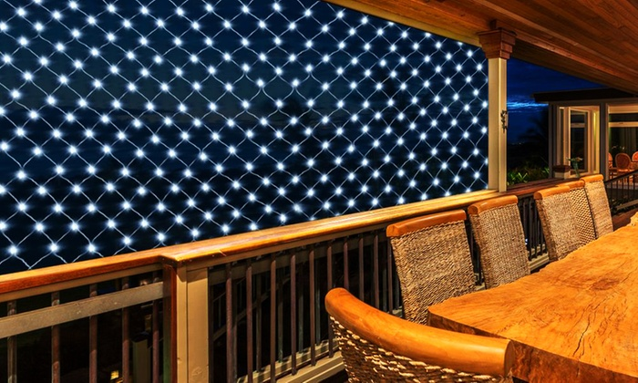 100-LED White Solar Netting Light Groupon Goods