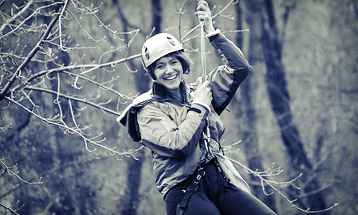 North Idaho College - Coeur d'Alene: $20 for Zipline Challenge Course at North Idaho College (Up to $40 Value). Eight Dates and Times Available.