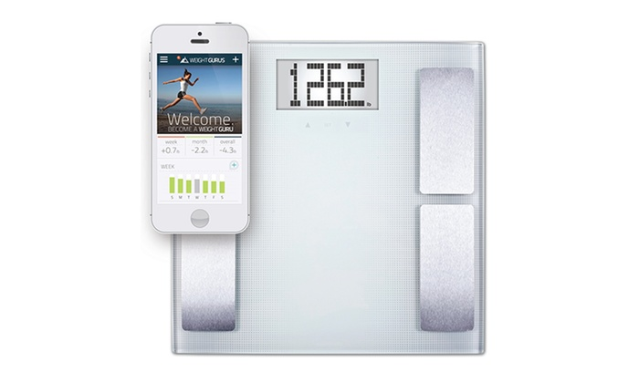 Body Compositions Scale with Smartphone Tracking : Weight GURUS appSYNC Body Compositions Scale with iOS or Android Smartphone Tracking App. Free Returns.