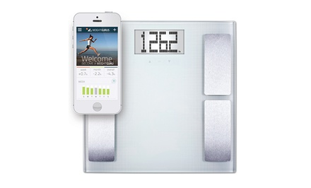 groupon daily deal - Weight GURUS appSYNC Body Compositions Scale with iOS or Android Smartphone Tracking App. Free Returns.