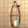 Deluxe 2-Tier Bamboo Shower Caddy
