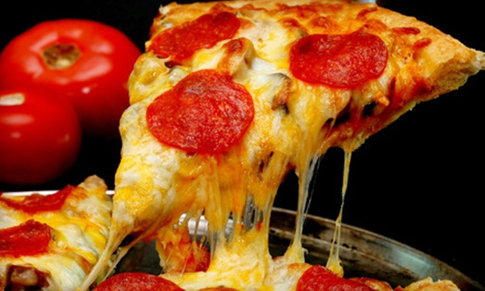 Goombas Pizza USA - East Lansing: One Large Specialty Pizza, One Large Pizza with Appetizer, or Five Large Pizzas at Goombas Pizza USA (Up to 53% Off)