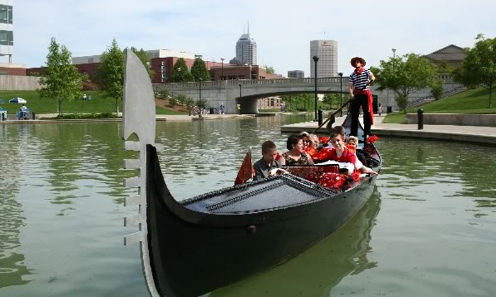 Old World Gondoliers & Electric Boat Tours - Downtown Indianapolis: $145 for a One-Hour BYOB Gondola Canal Tour for Up to Eight from Old World Gondoliers & Electric Boat Tours ($300 Value)