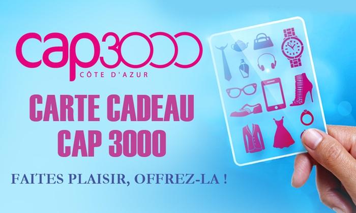 Une Carte Cadeau De 30 à 15 Valable Dans Les Boutiques Du Centre Commercial Nice Cap3000