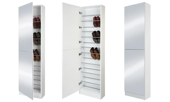 Schoenenkast Met Spiegel : Schoenenkast met spiegeldeur groupon