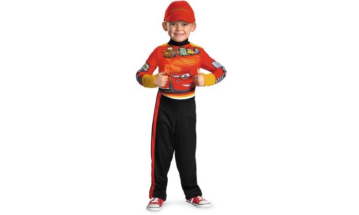 sc 1 st  Groupon & Disney Cars Lightning McQueen Boysu0027 Pit-Crew Halloween Costumes ...
