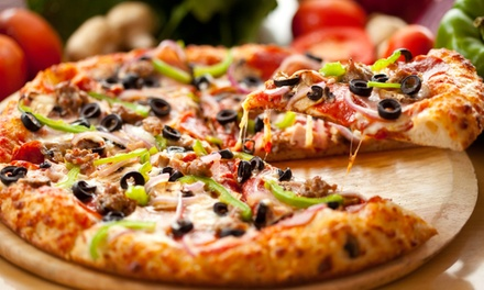 $21 for Two Medium One-Topping Pizzas, Breadsticks, and Soda at Firehouse Pizza & Grill ($36.46 Value)