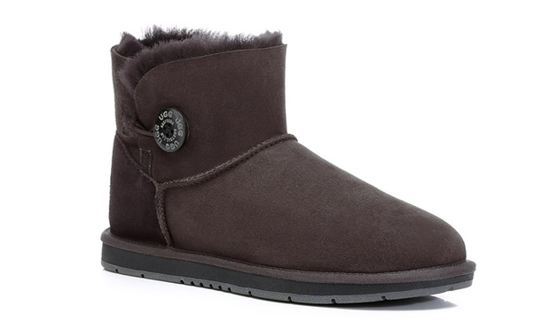 $69.95 for an Australian Shepherd® A Grade Merino Sheepskin Water Resistant Mini Button UGG Boots (Dont Pay up to $249)