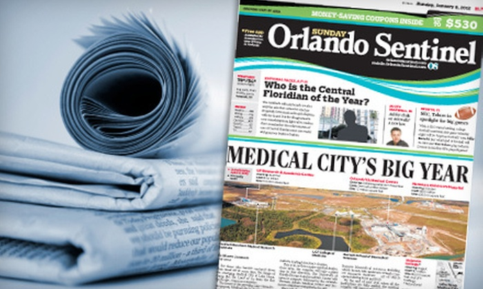 "Orlando Sentinel - Orlando: $10 for a One-Year Sunday-Only Subscription to the ""Orlando Sentinel"" ($85.08 Value)"