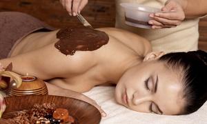AGUIRRE GLORIA MIRIAM: Gommage au chocolat et modelage relaxant au chocolat de 30 min chacun à 29,90 € chez Aguirre Gloria Miriam