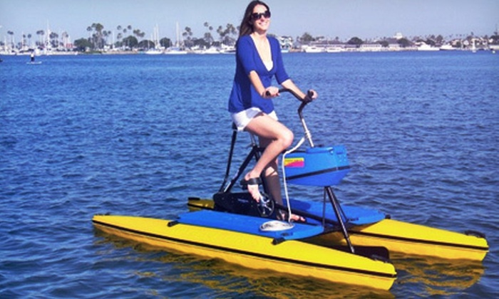 Long Beach Hydrobikes - Long Beach: One or Three Hydrobike Fitness Classes at Long Beach Hydrobikes (Up to 68% Off)