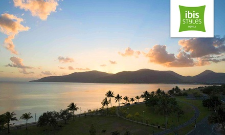 Cairns: 1,2 or 3 Nights for Three or Four People with Late Check-Out and Bottle of Wine at Ibis Styles Cairns