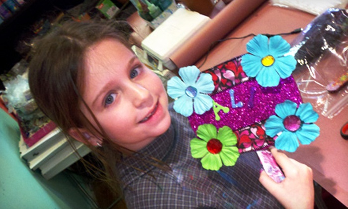 Studio Art - Water Mill: Sleepover Party with Pizza and Art Projects for Eight Kids or $15 for $30 Worth of Drop-In Art Projects at Studio Art