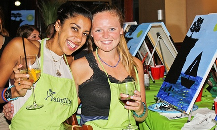 Two-Hour Painting Event at a Local Pub for One or Two from Paint Nite (Up to 46% Off)