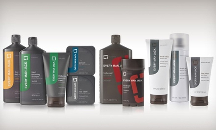 Every Man Jack: Men's Grooming Products from Every Man Jack (Half Off). Two Options Available.