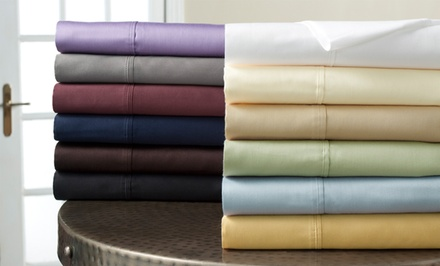 300-Thread-Count Wrinkle Resistant 100% Cotton Solid Sheet Sets from $34.99–$44.99