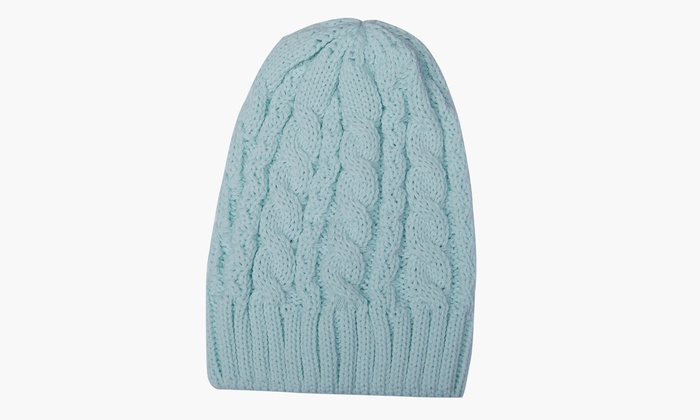 89cc34db748e6f Women's Cold Weather Cable Knit Soft Slouchy Beanie Hat | Groupon