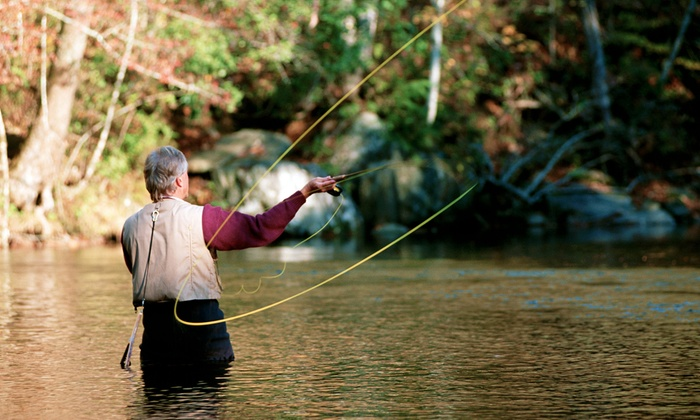 Three hour fly fishing lesson bob white springs groupon for Fishing for deals