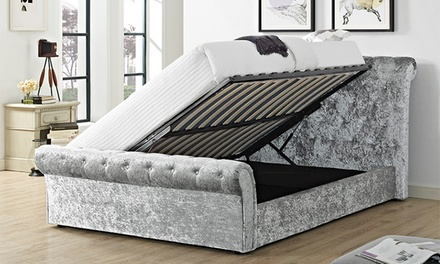 Crushed Velvet Storage Bed Groupon