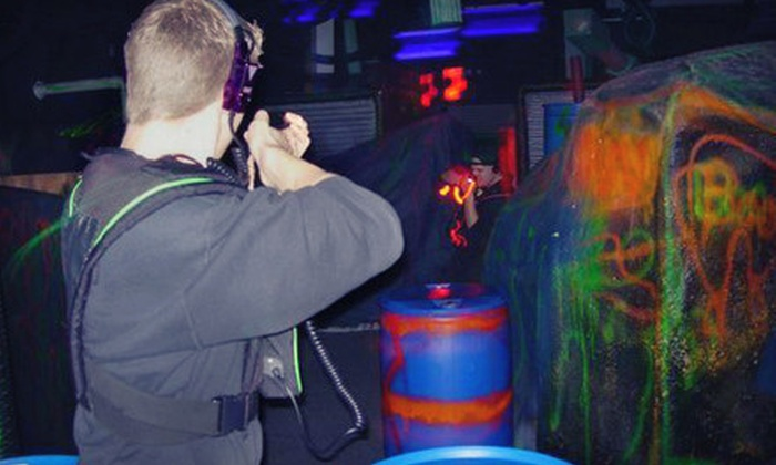 Laser Kingdom - Multiple Locations: Two Games of Laser Tag for Two or Four at Laser Kingdom (Up to 56% Off)