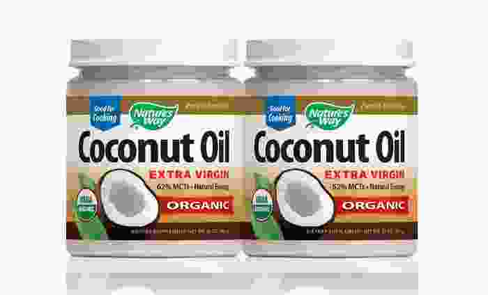 Nature's Way Organic Coconut Oil 2-Pack: Nature's Way Organic Coconut Oil; 2 32 Oz. Canisters
