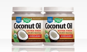 2-Pack of Nature's Way Organic Coconut Oil