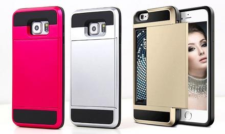 Robuuste hoes voor iPhone of Samsung in verschillende modellen en kleuren voor € 6,99 korting