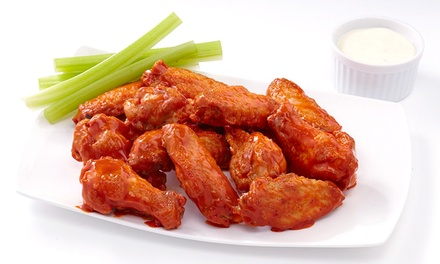 Wings and American Food at Planet Wings (50% Off). Two Options Available.