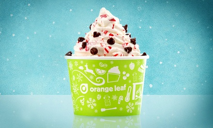Frozen Yogurt and Cold Treats at Orange Leaf (50% Off). Two Options Available.
