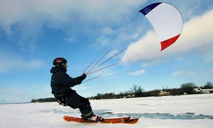 Paraski Aventure: Introductory Snowkiting Package with Video and Regular Season Pass at Paraski Aventure (71% Off)