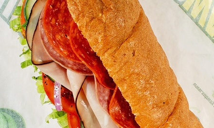 Sub-Sandwich Meal for Two or Five Regular Six-Inch Subs at Subway (Up to 45% Off)