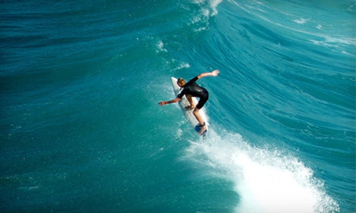 Malibu LongBoards Surf School - Santa Monica: Two-Hour Surfboard and Wetsuit Rental or Surfing Lesson at Malibu LongBoards Surf School in Santa Monica (Up to 58% Off)