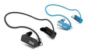 Pyle Waterproof Neckband Mp3 Player And Headphones