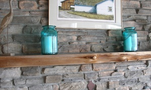 Regal Mantels Inc: CC$170 for a Live Edge Fir Fireplace Mantel from Regal Mantels Inc (CC$300 Value)
