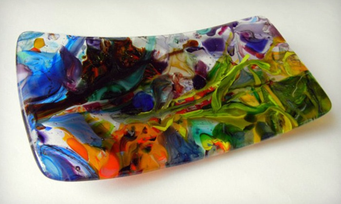Art in the Dairy - Pawtuckett: Fused Glass Dish Class for One, Two, or Four at Art in the Dairy (Up to 58% Off)