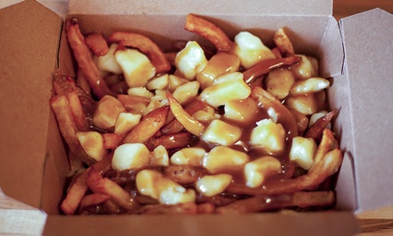 Two or Four Large Poutines with Fountain Drinks at The Big Cheese Poutinerie (50% Off)