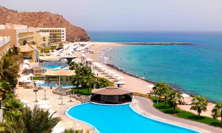 Fujairah: 1 or 2 Nights for Two with Breakfast or Half Board at the 5* Radisson Blu Resort Fujairah