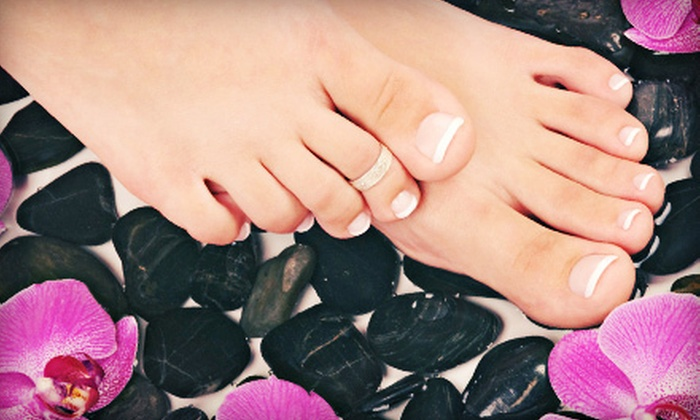 Crimper Hair Studio - Chili: Pedicure with Hot-Stone Foot and Leg Massage and Optional Manicure at Crimper Hair Studio (Up to 52% Off)